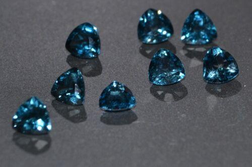 Beautiful Single 5mm 0.62cts Trillion Cut London Blue Topaz Gemstone