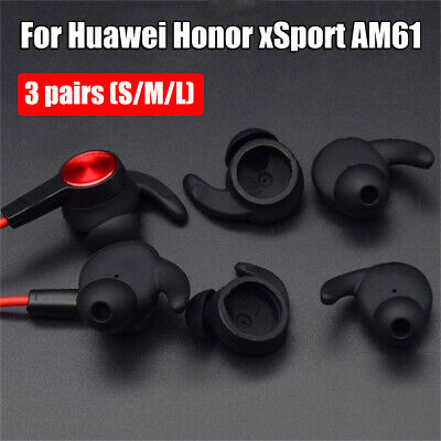 3 Pairs Silicone Earbuds Tips Ear Hook Cover for Huawei Bluetooth Headset AM61
