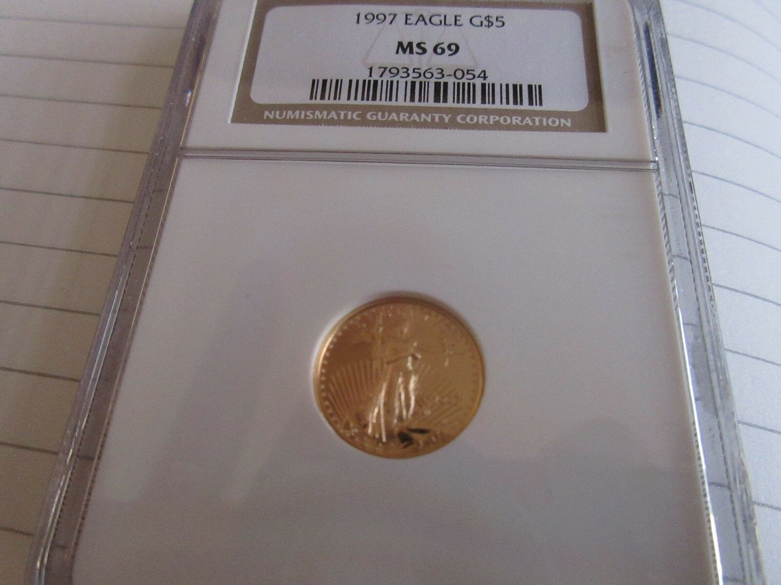 1997, Eagle , G5$ , One-Tenth Ounce Gold , NGC , MS 69