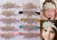 Baby Girls Crystal Gatsby Christening Bridal Headbands Hair Band - All Sizes