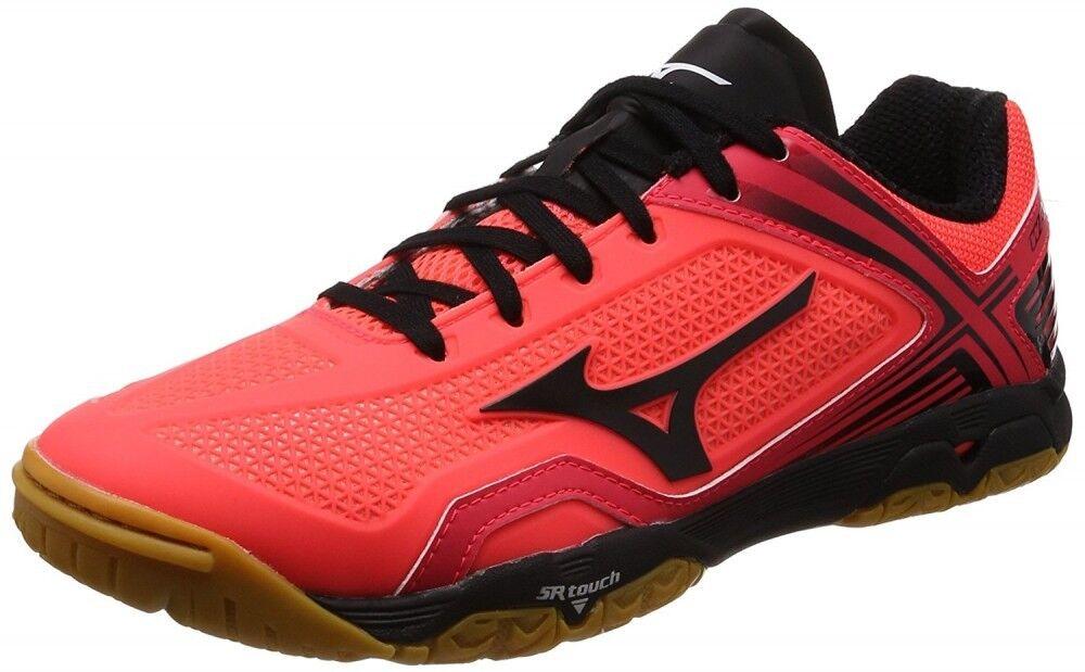 Nuevo Zapatos tenis de Mesa Mizuno Wave Medal Z 81GA1710 Coral Negro EE. UU. 9.5 27.5 Cm