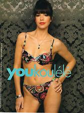 PUBLICITE ADVERTISING 045  2008  YOUKOULELE  collection maillot de bain