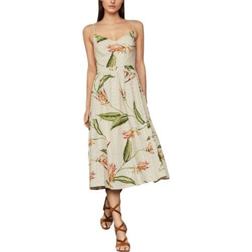 BCBG Max Azria Womens Embroidered Seveless Midi Casual Dress BHFO 1342