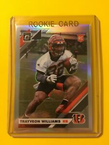 2019-OPTIC-TRAYVEON-WILLIAMS-SILVER-HOLO-PRIZM-ROOKIE-RC-143-Bengals