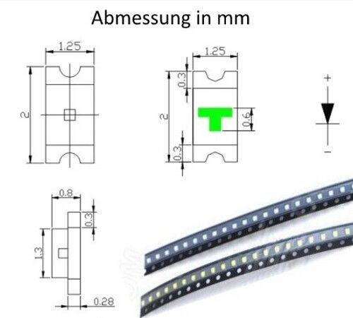 S938-20 Pezzi SMD LED 0805 led ARANCIONE AMBER