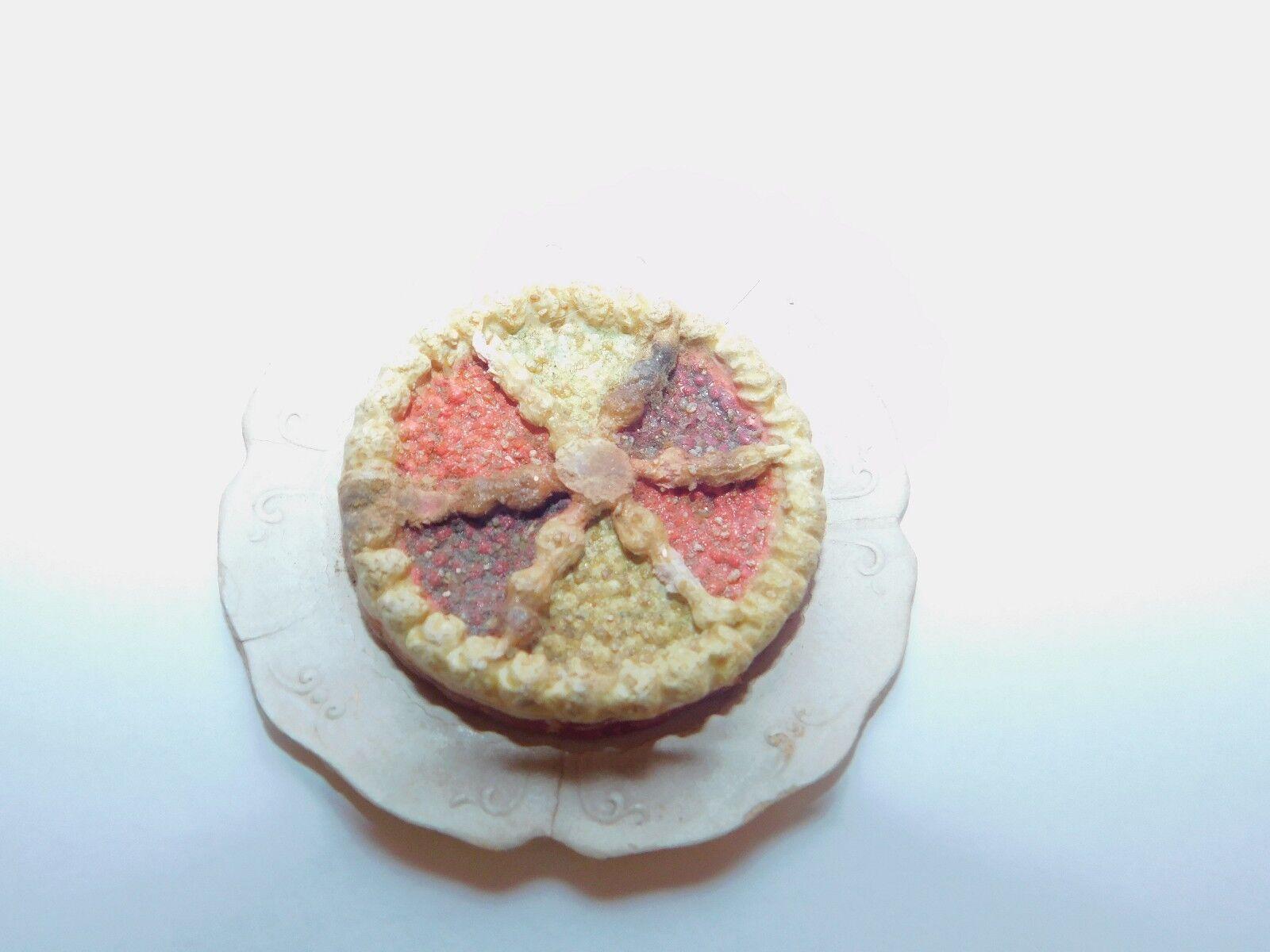 mejor servicio Placa Antigua Antigua Antigua Muñeca Casa De Muñecas en Miniatura Fruta Comida Mezclado Berry tarta de cerámica de papel  descuento de ventas