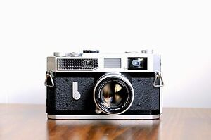 CANON-Model-7-Rangefinder-w-Canon-50mm-LTM-lens-Leather-Case-User-Read