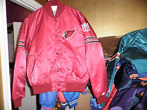 eae9da13 Details about Vintage Arizona Cardinals Throwback Satin Starter Jacket  Large Nice!