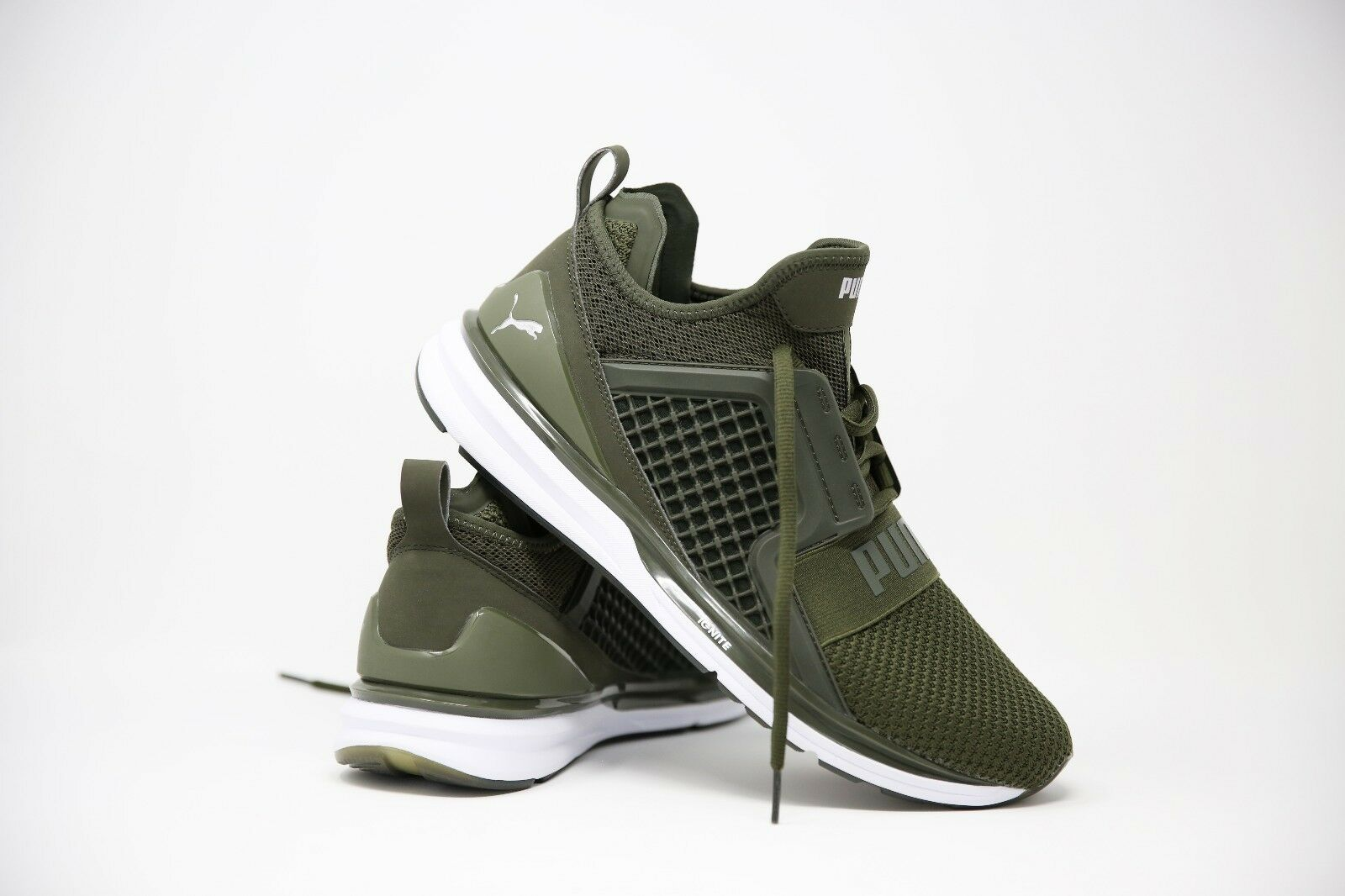 Puma Ignite Dark Green Trainers Size UK 9.5 EUR 44