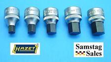 "Hazet Germany Type 985 Metric Hex Bit Socket Set 1/2"" drive 10, 12, 14, 17, 19mm"