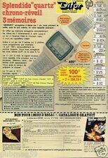 Publicité advertising 1980 La Montre Difor Quartz chrono reveil