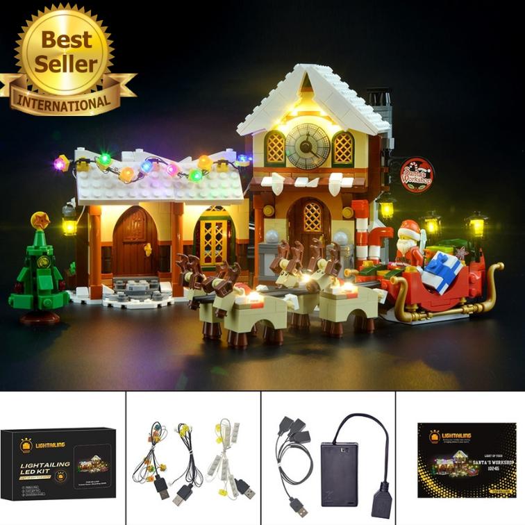 LED Light kit for Lego 10245 and 33024 Christmas SANTA'S WORKSHOP LIGHT KIT