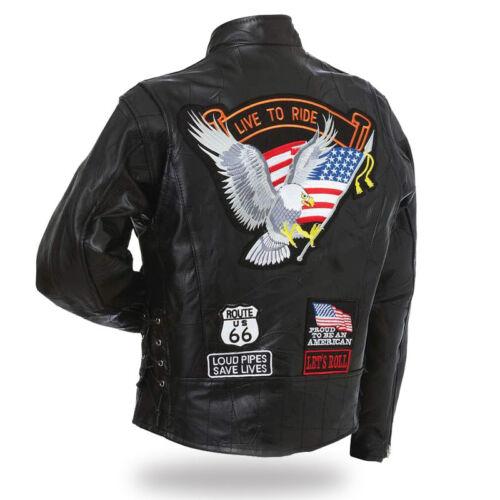 Blouson en cuir homme Aigle / live to ride Dispo S à 4XL ( biker harley custom )