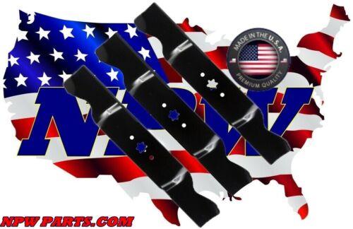 "3 USA MADE Hi Lift Blades Cub Cadet RZT54 RZT-L54 RZT-S54 w// 54/"" Deck 942-0677B"