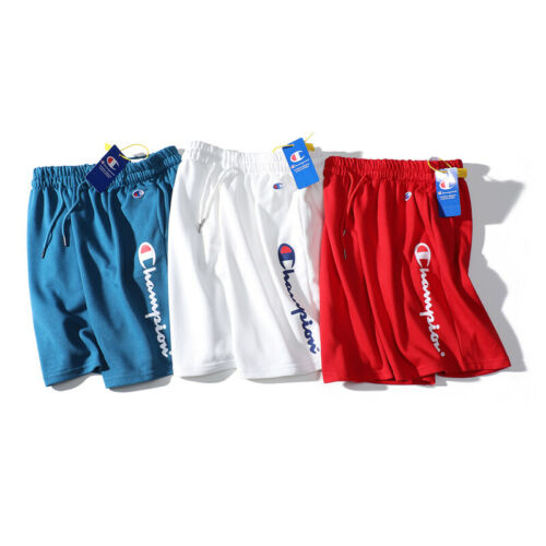 Champion Shorts Herren Damen Brief Kurze Hose Sport Short knielang Sweat Shorts