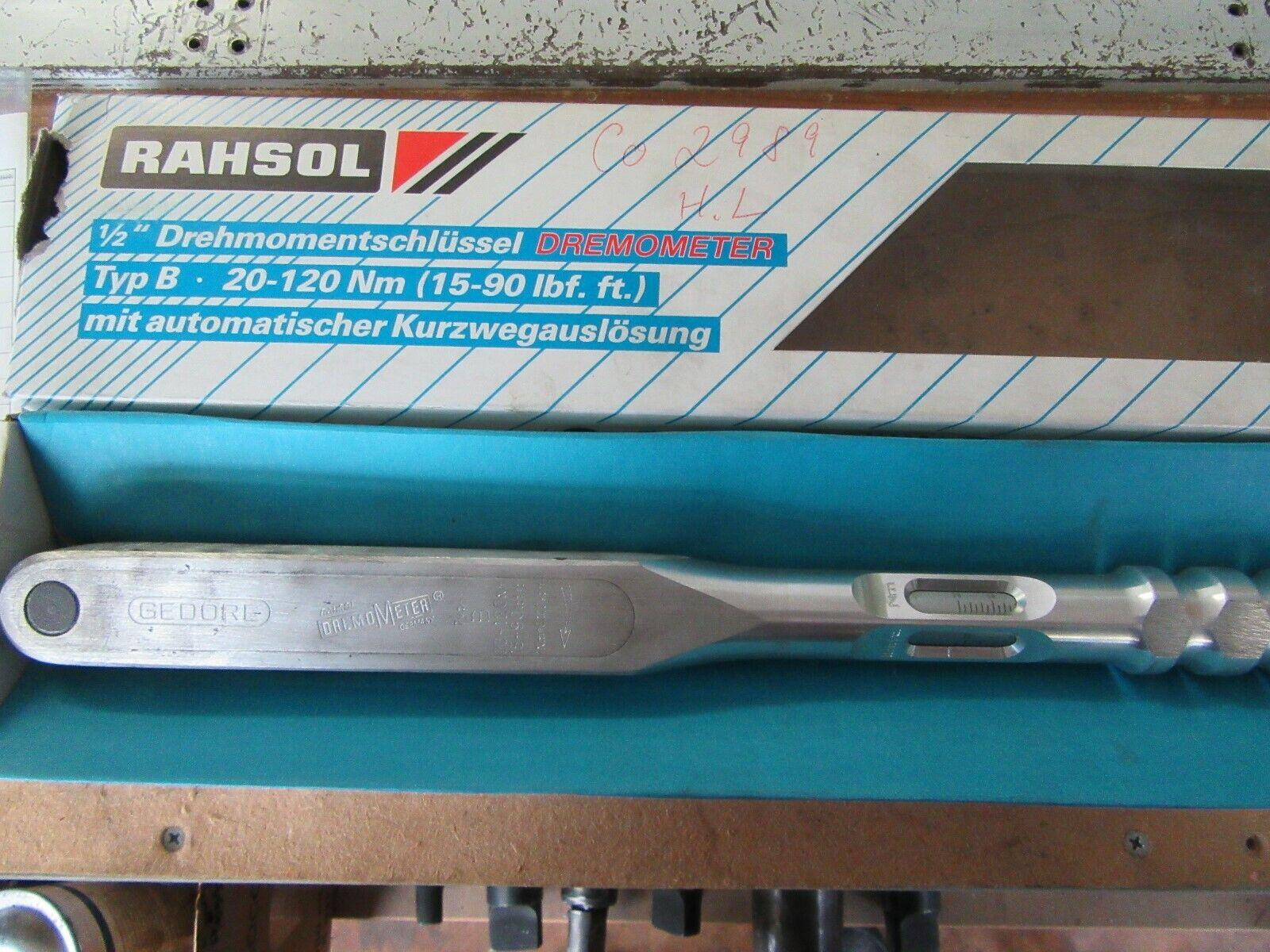 GEDORE RAHSOL  Dremometer Drehmomentschlüssel Typ B 20-120 Nm in OVP  A27
