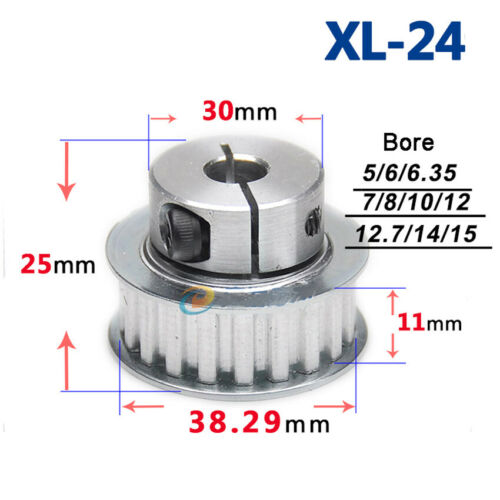 Bore 5mm-20mm For 10mm Width Belt XL15T-40T Timing Belt Pulley Clamping Type