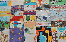 """I Spy Novelty Boy Fabric 5"""" Squares Charm Pack, 30 different pieces, 100% cotton"""
