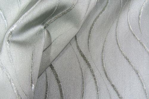 Habilidades En Relieve Wave Rayas Imitación Seda curtain//craft Tela Verde Azulado