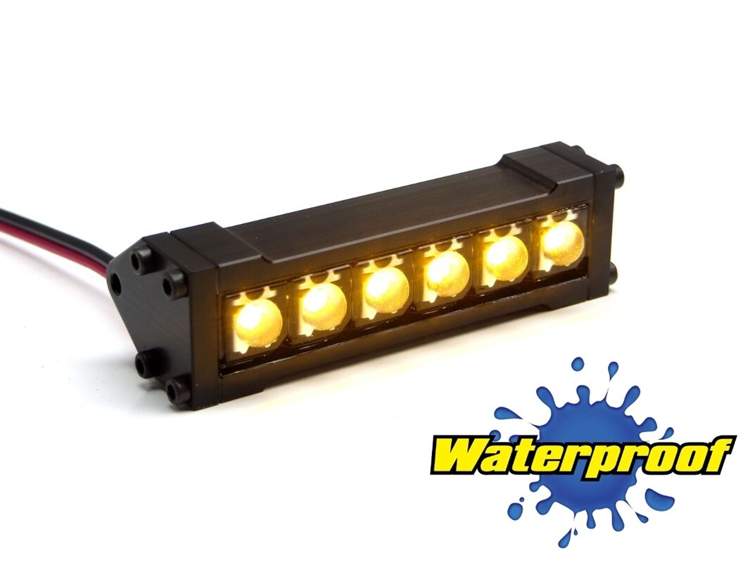 Gear Head RC 1 10 Scale Six Shooter Water Proof LED Light Bar Yellow GEA1163