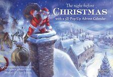 Caspari Pop-Up Advent Calendar and Story Book, Night Before Christmas (ADV218)