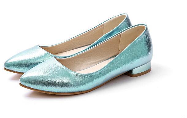 Ballerine mocassini scarpe donna eleganti azzurro 8314 oro argento  2 cm comode 8314 azzurro 83cbfc