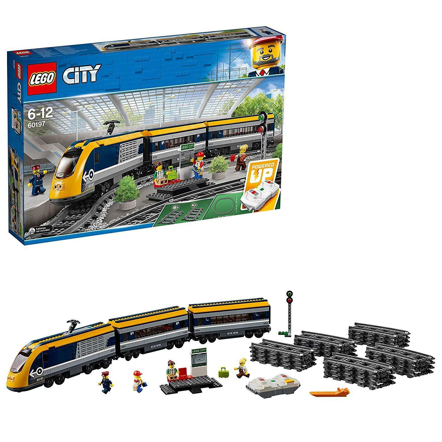 LEGO 60197 City Passenger RC Train Toy Construction Track Set For Kids