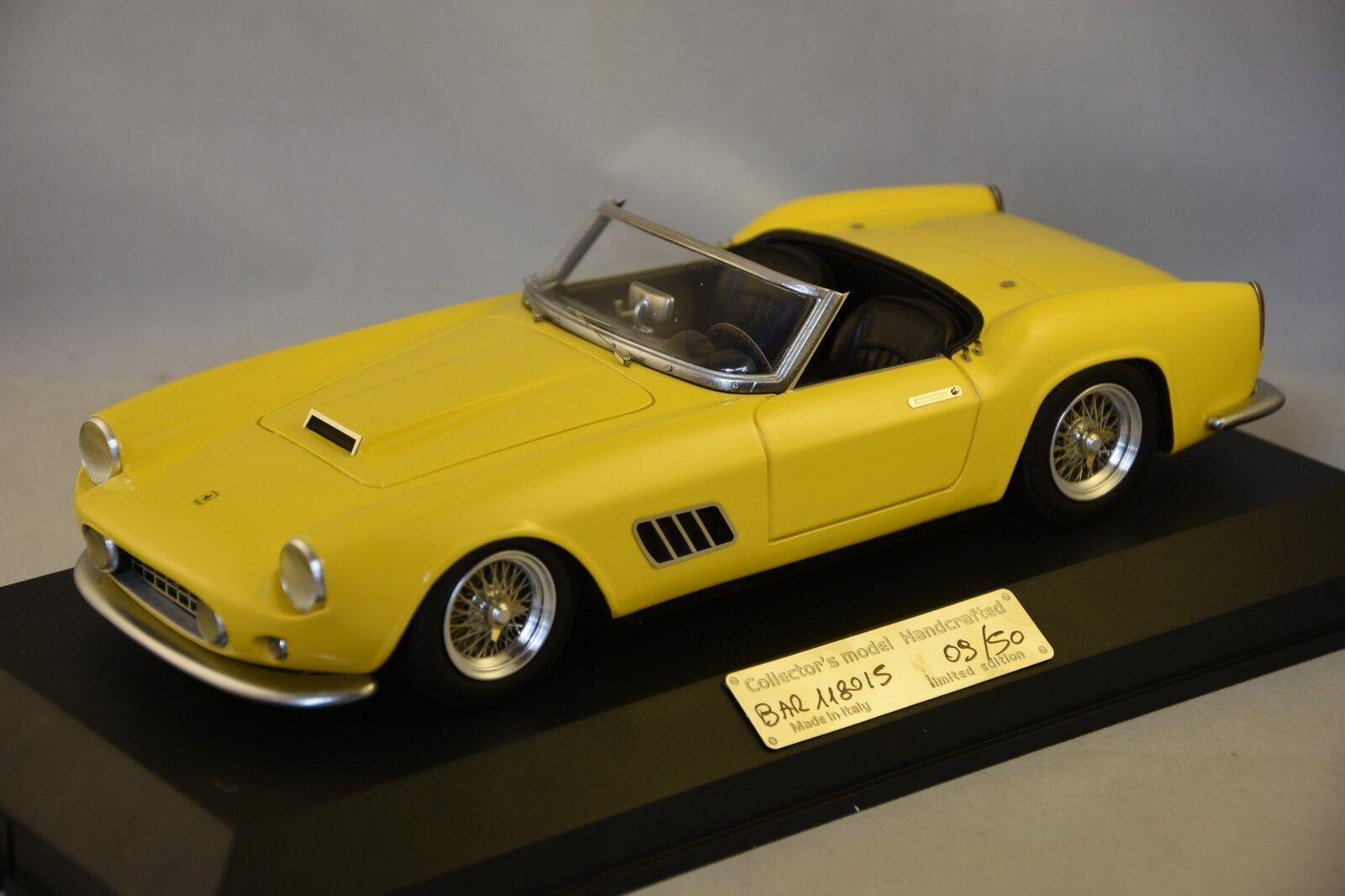 MG MODEL BER118015 - Ferrari 250 GT LWB spyder barchetta 118015 route amarillo 1 18