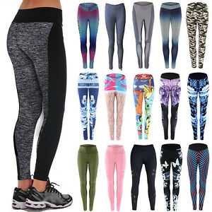 Women-039-s-Yoga-Sports-Running-Pants-Leggings-Stretchy-Fitness-Trousers-Gym-Clothes