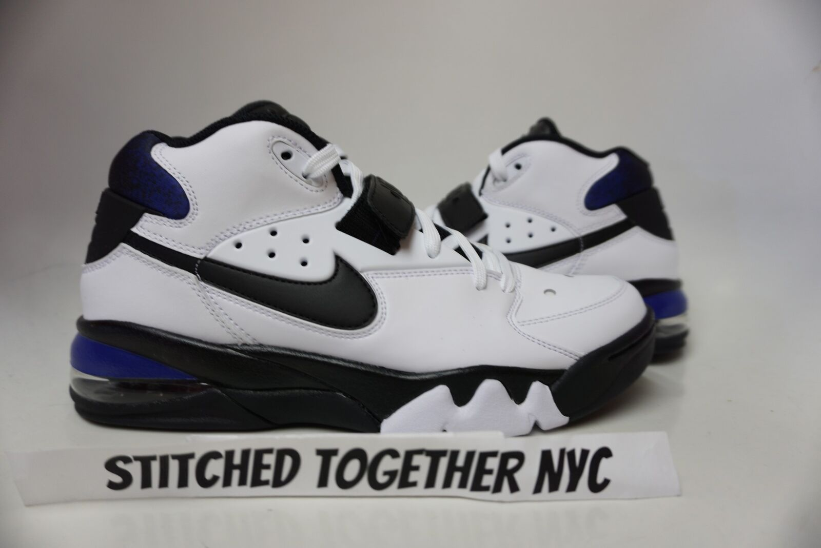 (AH5534-100) MEN'S NIKE AIR FORCE MAX WHITE BLACK COBALT