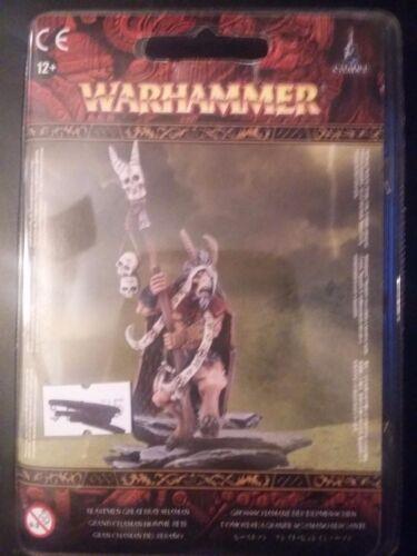 Warhammer Fantasy Age of Sigmar Beastmen Great Bray Shaman Blister New 81-12
