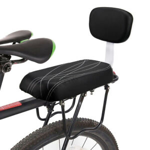 Bike Rear Seat Kids Bicycle Rear Seat Cushion Armrest Footrest Set
