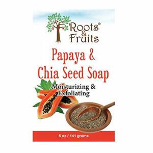 Roots-amp-Fruits-Bar-Soap-Papaya-amp-Chia-Seed-5-Oz