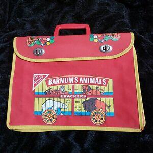 "Vintage Nabisco Barnum's Animal Crackers Book Bag Bookbag Cages WEAR 13"" x 10"""