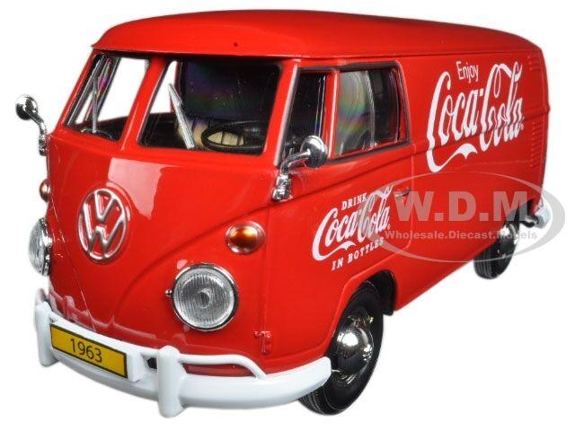 1963 VOLKSWAGEN T1 COCA COLA CARGO VAN W// DRIVER 1//24 MOTOR CITY CLASSICS 424062