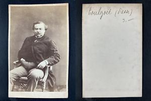 Auguste de Toulgoët, journaliste Vintage cdv albumen print.Auguste de Toulgoët