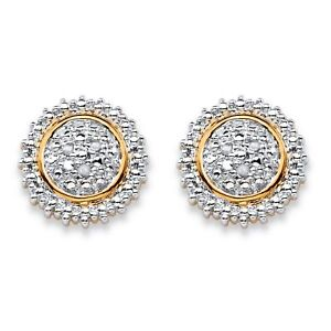 Diamond-Accent-Two-Tone-18k-Gold-Plated-Stud-Earrings