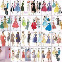 Vintage Retro 1940s 50s 60s Misses Dress Butterick Sewing Pattern Rockabilly Vlv