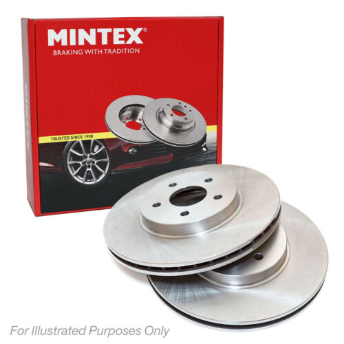 MDC2567 NEW MINTEX FRONT VENTED BRAKE DISCS SET PAIR
