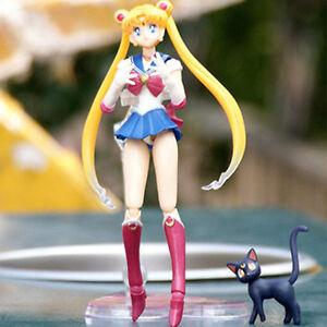 Sailor-Moon-Pretty-Guardian-Tsukino-Usagi-PVC-Anime-Action-Figure-Figma-Kids-Toy