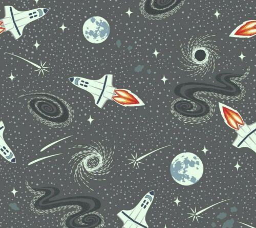 Lewis /& Irene /'luz años Gris Oscuro cohetes brillan en la oscuridad Quilting