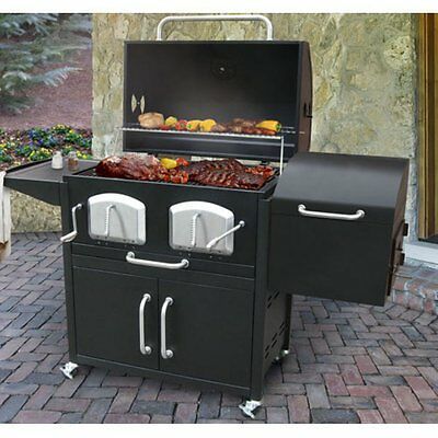 Landmann Bravo Premium Charcoal Grill and Smoker, Black, 808