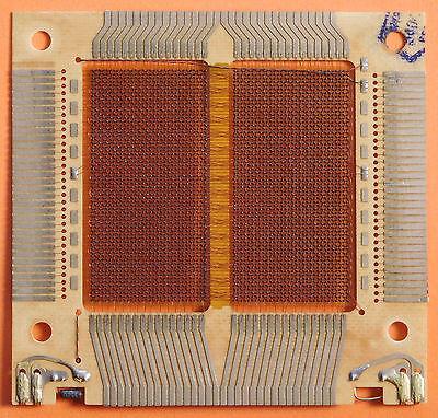 "RARE ""Pentagon""(!!!) version. Large Univac Magnetic Ferrite Core Memory Plane."