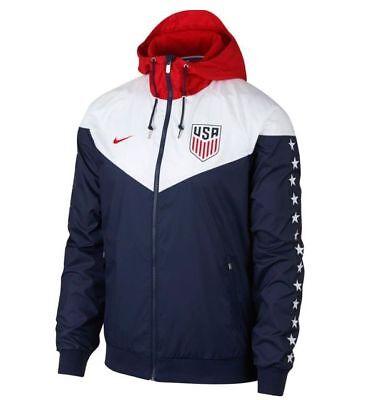 Nike Chelsea FC  2018-2019 All Weather Soccer Windbreaker Hooded Jacket White