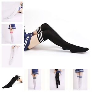 a956d1cd8e06d Image is loading Girl-Striped-High-Quality-Stockings-Women-Sexy-College-