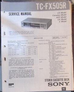 sony tc fx505r cassette deck service repair workshop manual rh ebay co uk manual deck shades Sony User Manuals