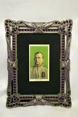 Disciplined 1911 T206 Ty Cobb Tobacco Card Rp Green Period Frame Old Detroit Tigers Baseball Nourishing Blood And Adjusting Spirit Picture Frames