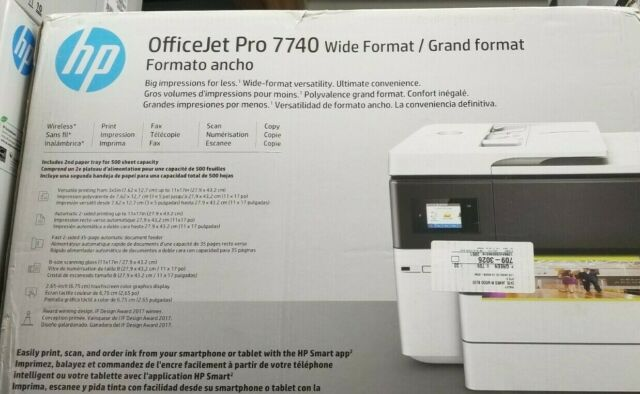 HP Officejet Pro 7740 Wide Format All-in-one Color Printer Duplex Print  G5j38a