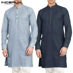 028b4ddbab3 Kurta Pajama 100% Cotton Shirt Men's Designer Top Tunic Indian Kurta ...