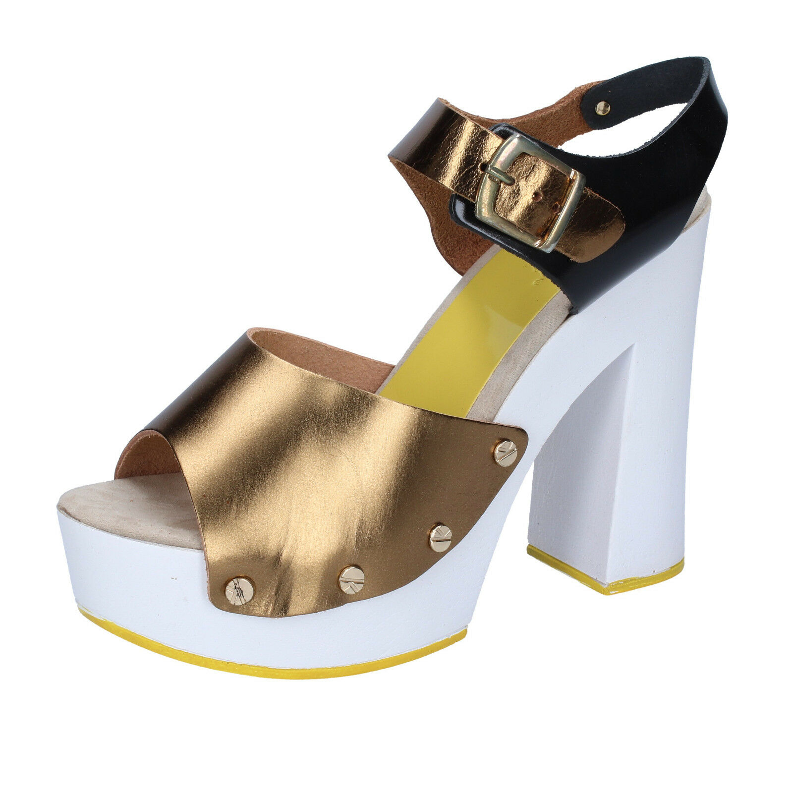 Para mujeres Zapatos Suky marca 5 (EU (EU (EU 35) Sandalias Bronce Cuero Negro BS19-35  Venta barata